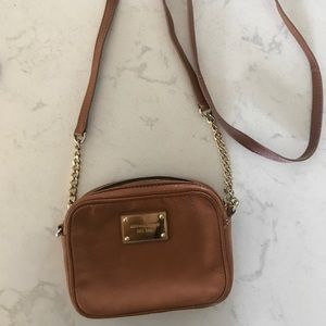Michael Kors cross body leather purse